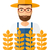 白 · 農家 · 小麦 · 麦畑 · 男 - ストックフォト © rastudio