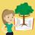 fa · növekvő · nyitott · könyv · oktatás · nő · szőlőszüret - stock fotó © rastudio