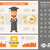 education flat design infographic template stock photo © rastudio