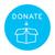 donare · blu · vettore · icona · design · digitale - foto d'archivio © rastudio