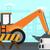 background of excavator on construction site stock photo © rastudio