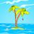 cartoon background of tropical island and sea stock photo © rastudio