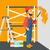 casa · pittore · vernice · pittura · cartoon · illustrazione - foto d'archivio © rastudio