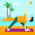 hombre · yoga · Asia · meditando · triángulo - foto stock © RAStudio