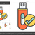 usb · флэш-накопитель · линия · икона · уголки · веб - Сток-фото © rastudio