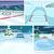 vector cartoon set of winter backgrounds stock photo © rastudio