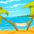 cartoon background of tropical beach and sea stock photo © rastudio