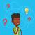 man having business idea vector illustration stock photo © rastudio