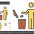 человека · мусора · линия · икона - Сток-фото © rastudio