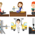 vector set of industrial workers stock photo © rastudio