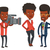 tv · journaliste · micro · caméra · africaine · permanent - photo stock © rastudio