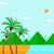 tenger · kilátás · pálmafák · nap · homok · part - stock fotó © rastudio