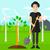 漫画 · 植木屋 · 植物 · ツリー · 女性 · プロ - ストックフォト © rastudio