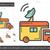 radiodifusão · tem · linha · ícone · teia - foto stock © rastudio