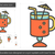 mulled wine line icon stock photo © rastudio