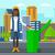 женщину · мусор · зеленый · вектора - Сток-фото © rastudio