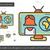 global · notícia · linha · ícone · vetor · isolado - foto stock © rastudio