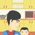 father feeding baby stock photo © rastudio