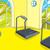 cartoon background of gym room stock photo © rastudio