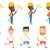 desenho · animado · corrida · grande · sorrir · esportes · fitness - foto stock © rastudio