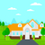 background of house with beautiful landscape and driveway stock photo © rastudio