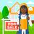 ingatlanügynök · aláírás · szerződés · ül · munkahely · iroda - stock fotó © rastudio