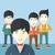 bonito · asiático · empresários · feliz · em · pé - foto stock © rastudio