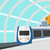 background of modern train arriving at the station stock photo © rastudio