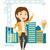 femme · d'affaires · idée · jeunes · femme · d'affaires · affaires · planification - photo stock © rastudio