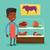 açougueiro · oferta · fresco · carne · jovem · feliz - foto stock © rastudio