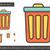 мусорное · ведро · тонкий · линия · икона · веб · мобильных - Сток-фото © rastudio