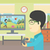 homme · jouer · jeu · vidéo · asian · jeune · homme · gamepad - photo stock © RAStudio