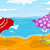 pálmafa · tenger · napernyő · szék · fa · absztrakt - stock fotó © rastudio