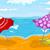 palmboom · zee · parasol · stoel · boom · abstract - stockfoto © rastudio