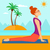 vrouw · oefenen · yoga · asian · jonge · vrouw · permanente - stockfoto © rastudio