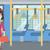 mulher · em · pé · dentro · transporte · público · mala · vetor - foto stock © rastudio