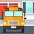 иллюстрация · школы · здании · желтый · автобус · вектора - Сток-фото © rastudio