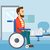 patient sitting in wheelchair stock photo © rastudio