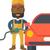 trabalhador · posto · de · gasolina · enchimento · para · cima · combustível · carro - foto stock © rastudio