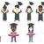 vector set of graduates and business characters stock photo © rastudio