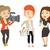 tv interview vector illustration stock photo © rastudio