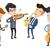 band · muzikanten · spelen · muziekinstrumenten · groep · jonge - stockfoto © rastudio