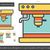 coffee machine line icon stock photo © rastudio