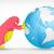 világ · földgömb · rajz ·  · kéz · szem - stock fotó © rastudio