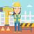 優しい · ビルダー · 女性 · 立って · 建設現場 - ストックフォト © rastudio