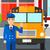 ilustración · escuela · edificio · amarillo · autobús · vector - foto stock © rastudio