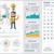 social media flat design infographic template stock photo © rastudio