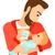 man feeding baby stock photo © rastudio
