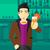 man holding glass of juice stock photo © rastudio