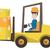 magazijn · werknemer · bewegende · laden · heftruck · vrachtwagen - stockfoto © rastudio